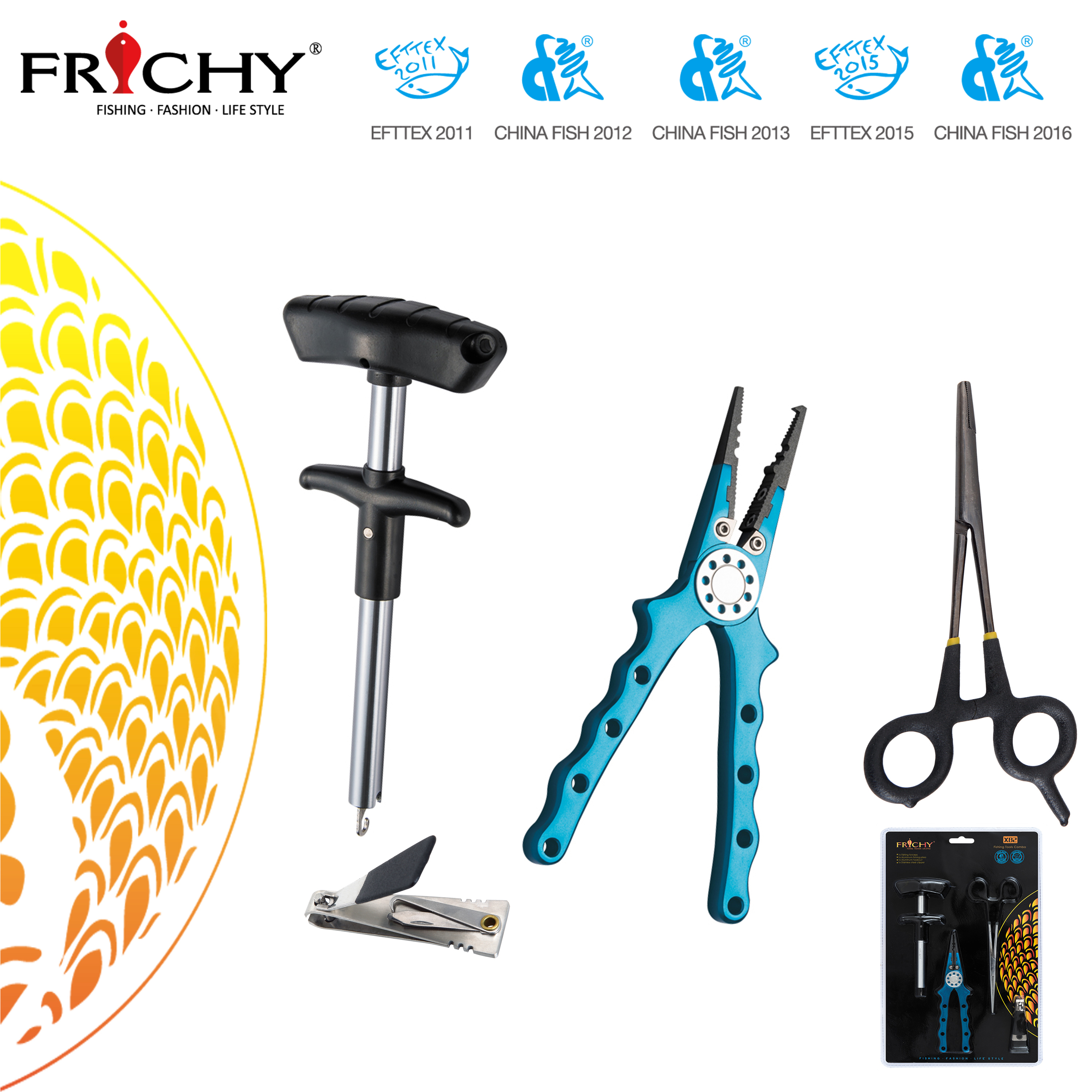 X82 Quality Fishing Tools Combo - Fishing Forceps, Pliers and Hook Remover and Stainless Steel Clipper